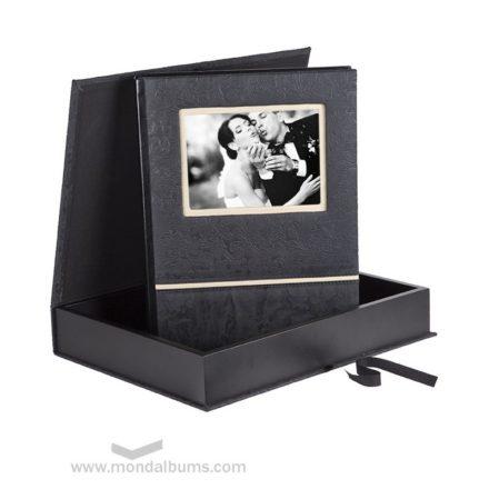 Caja porta-foto con álbum a juego
