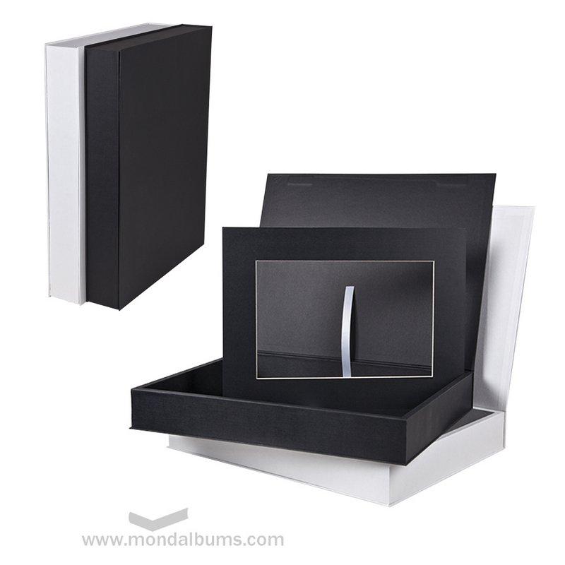 Cajas paspartús blanco y negro