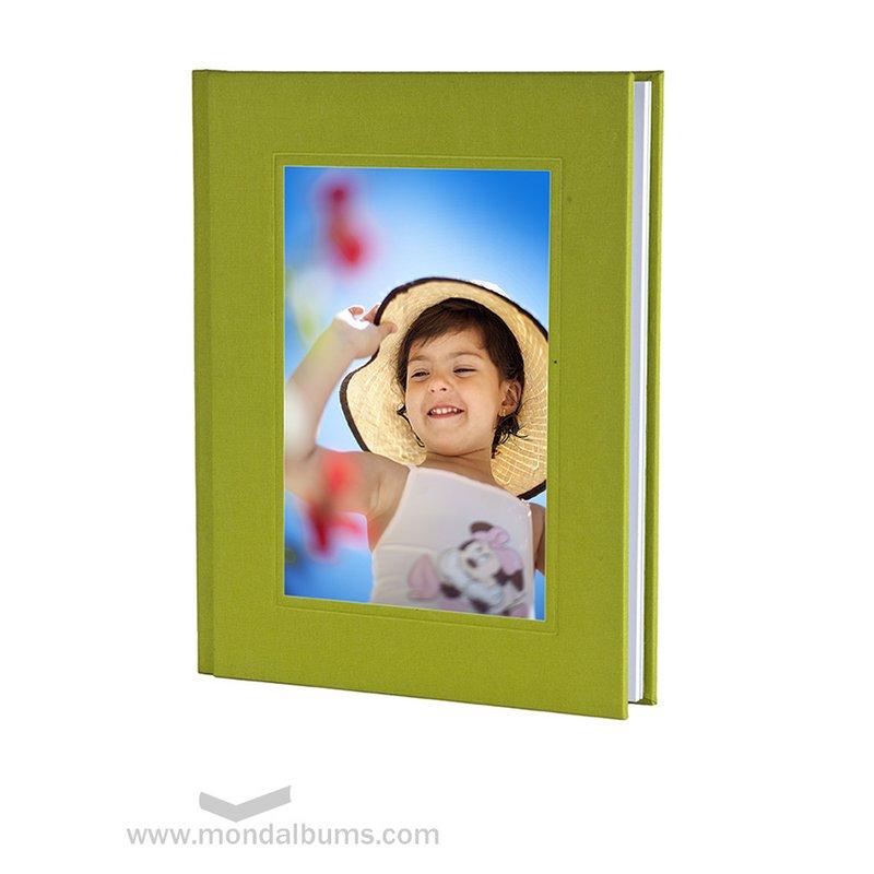Álbum fotos comunión promociones eco tela verde