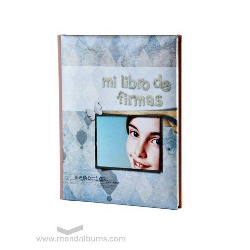 Álbum de fotos de comunión promociones-libro firmas nina