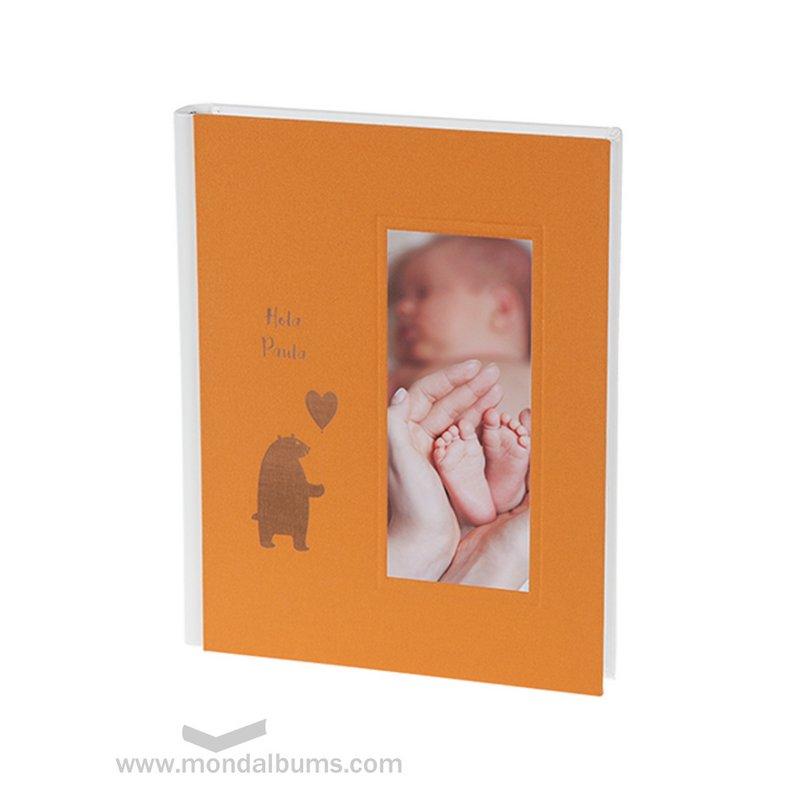 Álbum fotos bebé Tin Toy I16-935 naranja