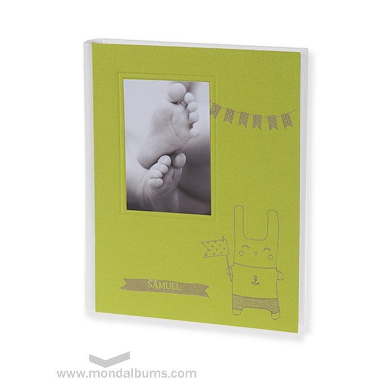 Álbum fotos bebé Tin Toy I16-937 verde