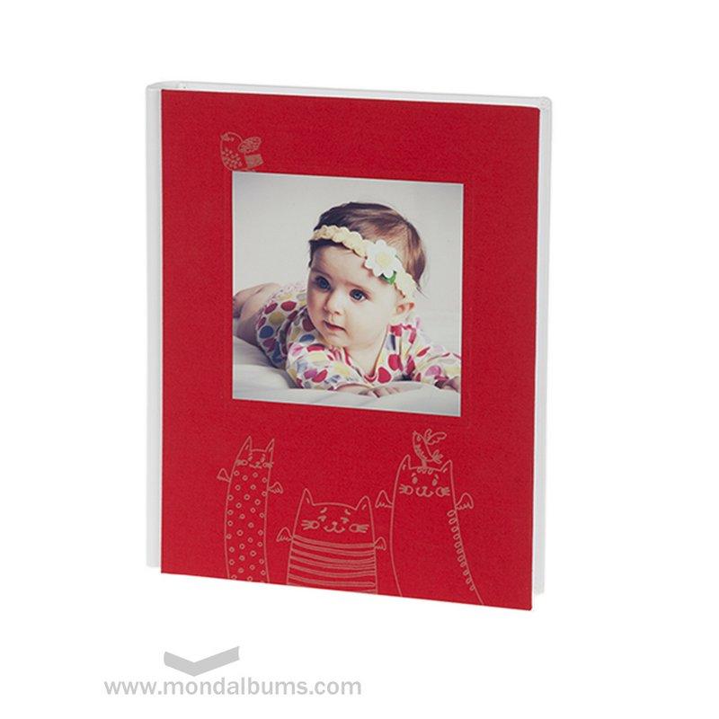 Álbum fotos bebé Tin Toy l16-938-rojo