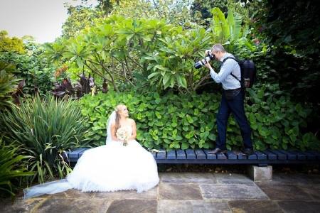 Poses para fotos de boda vista picada