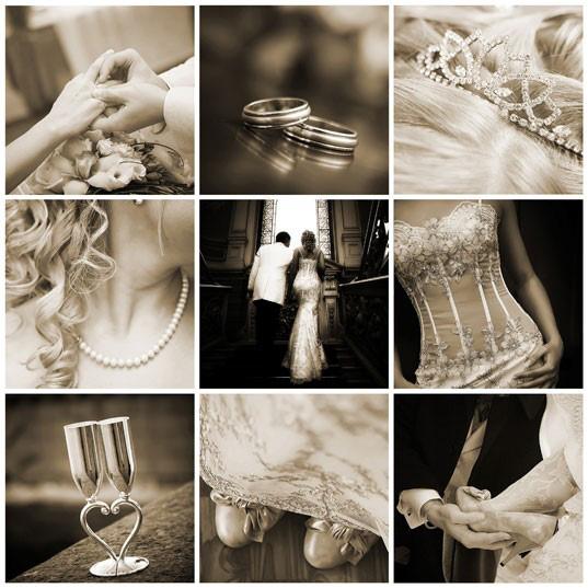 poses para fotos de boda collage