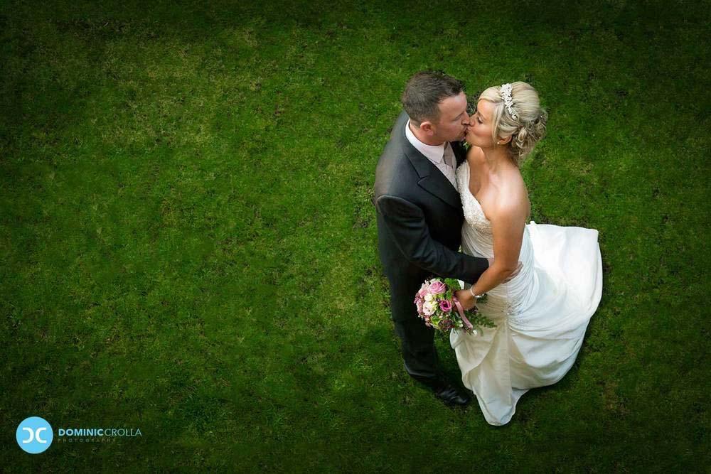 Poses para fotos de boda el beso