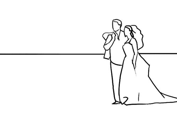 Poses para fotos de boda, el entorno