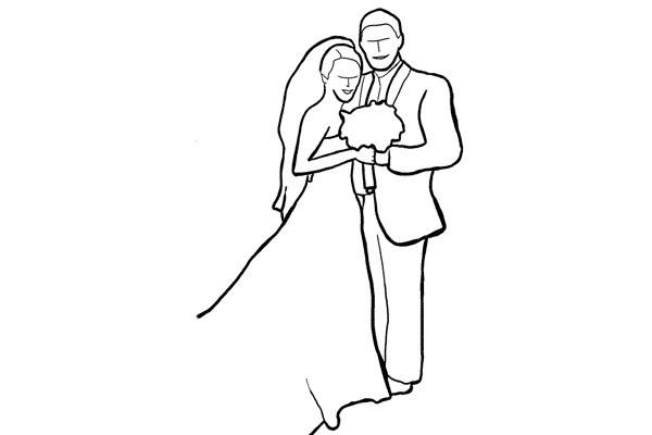 Poses para fotos de boda momento íntimo