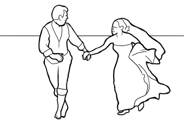 Poses para fotos de boda novios descalzos