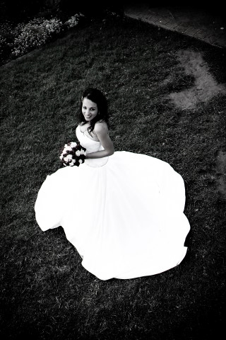 Poses para fotos de boda vista superior