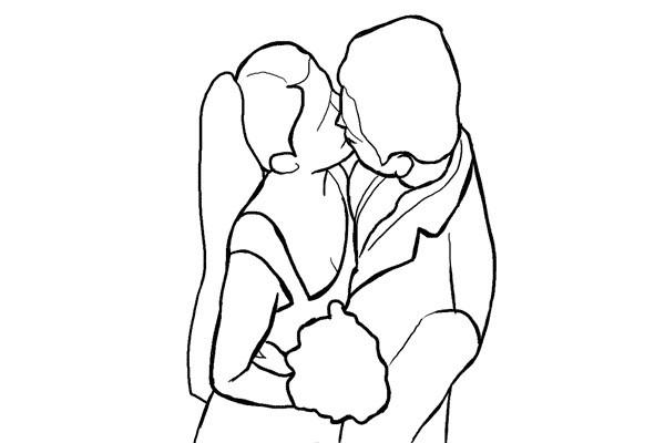 Poses para fotos el beso