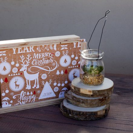 Caja Woody con diseño Navidad 17-08