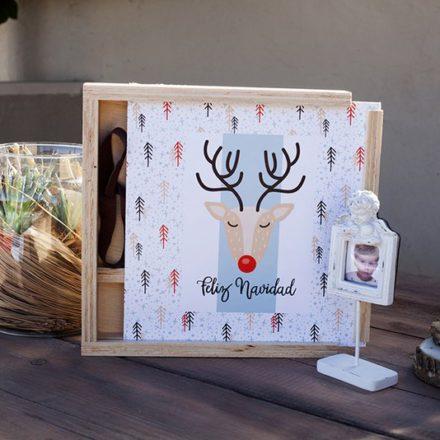 Caja Woody con diseño Navidad 17-05