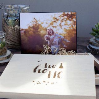 Estuche de madera con diseño Navidad 17-10 y Portafoto-Fino