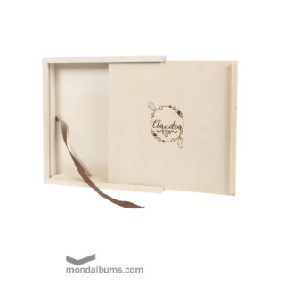 caja porta fotos woody