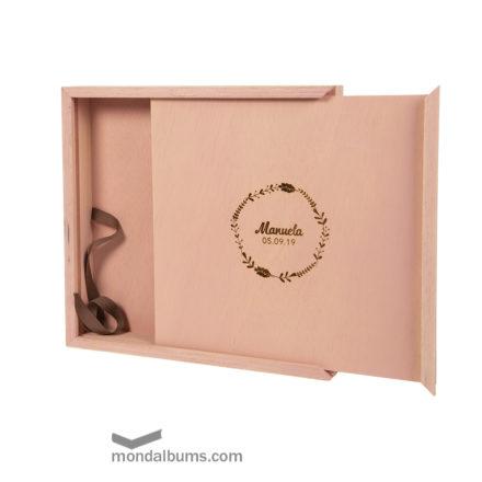 caja porta fotos teñida